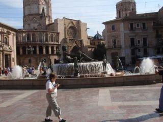 Fountain in plaza, Spain