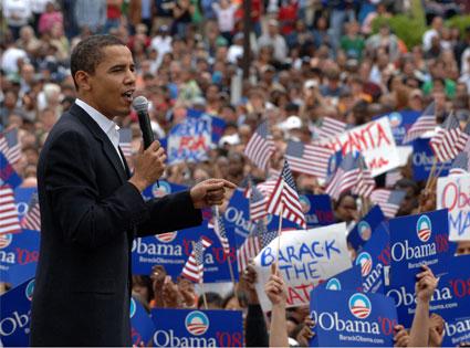 Obama at 08 rally