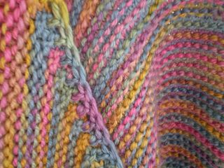 Bias cardigan edge detail