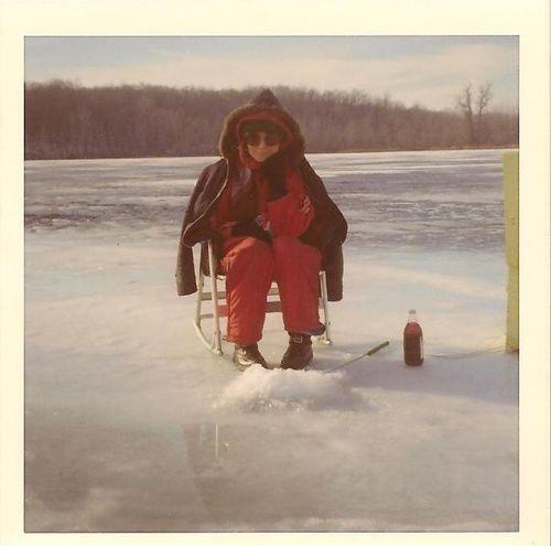 Ice fishing on Saginaw Bay