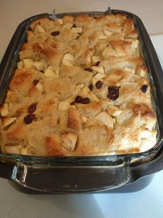 Bread pudding cooked