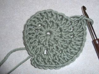 Crocheted circle 1