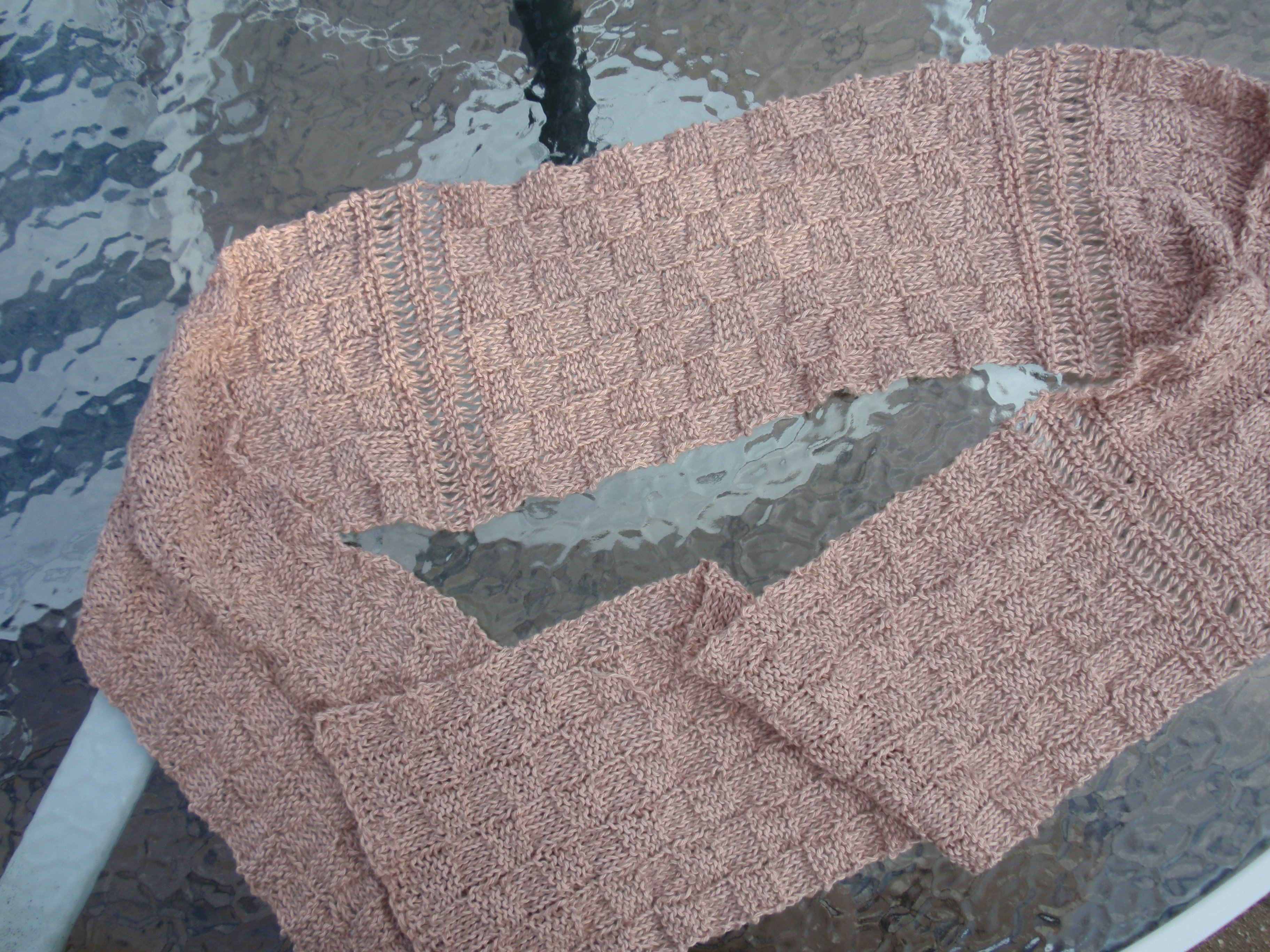 Reversible Basket Weave Scarf - An Original TintiTypes Knitted Scarf ...