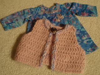 dress and vest vor 18 inch doll
