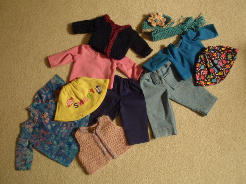 18 inch doll wardrobe