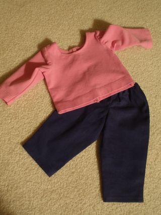 blue slacks and long sleeve t-shrt