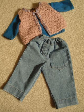 jeans and t-shirt and vest combo
